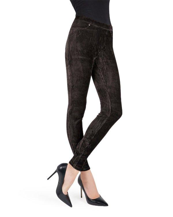 Memoi Wide-rib Stretch Corduroy Leggings Women' Premium