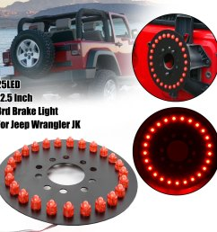 1 pc waterproof car spare tire led lamp rear 3rd brake decor light for jeep wrangler jk accessories walmart com [ 1200 x 1200 Pixel ]