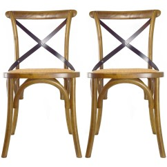 X Back Chairs Wh Gunlocke Chair 2xhome Set Of 2 Walnut Mid Century Modern Farmhouse Antique Cross With Assembled Solid Real Wooden Frame Style Dining Side