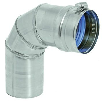 Stainless Steel 90 Degree Elbow for 7 Inch Vent Pipe