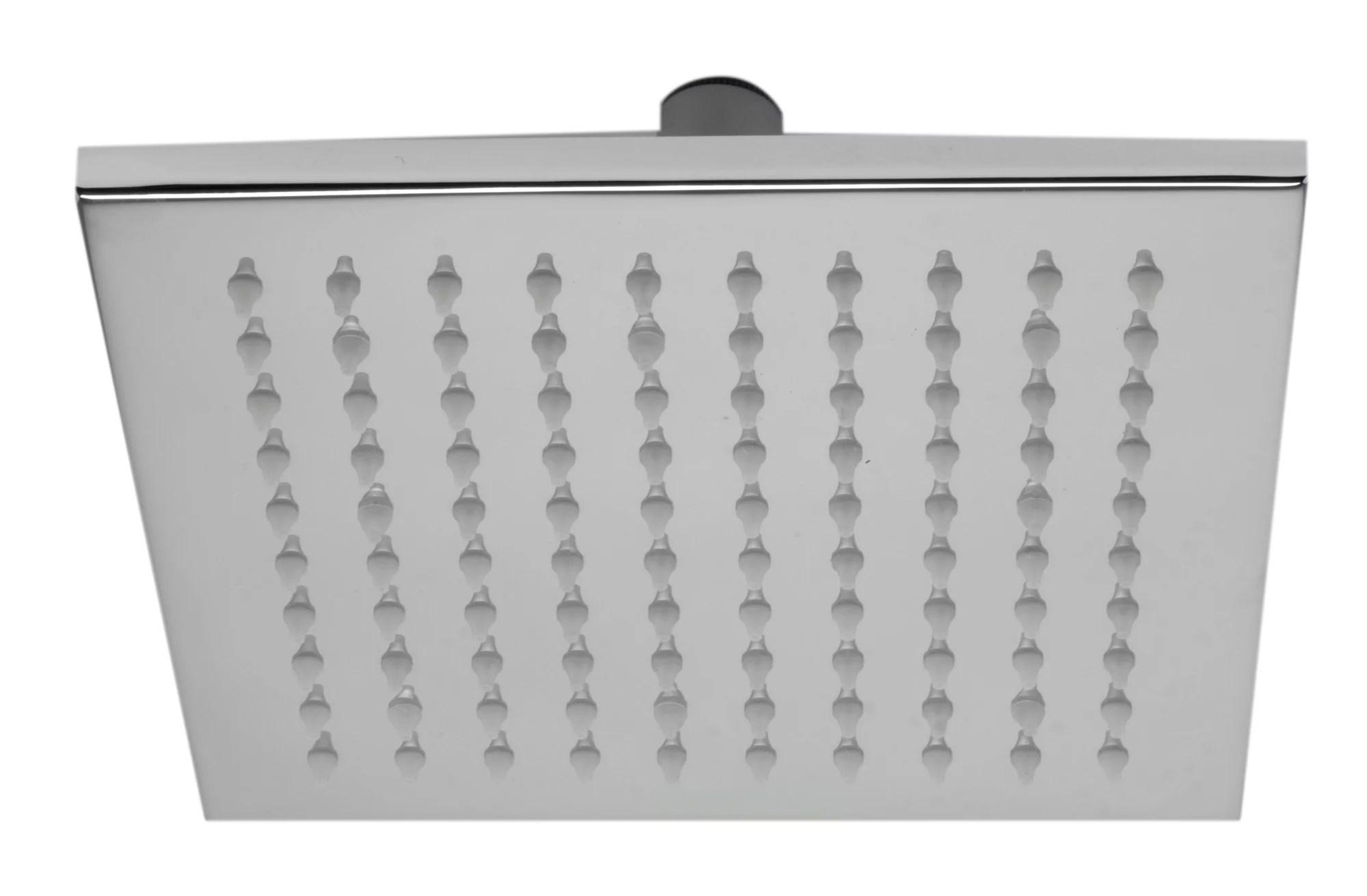Alfi Brand Led8s Bn Brushed Nickel 8 Square Multi Color Led Rain Shower Head
