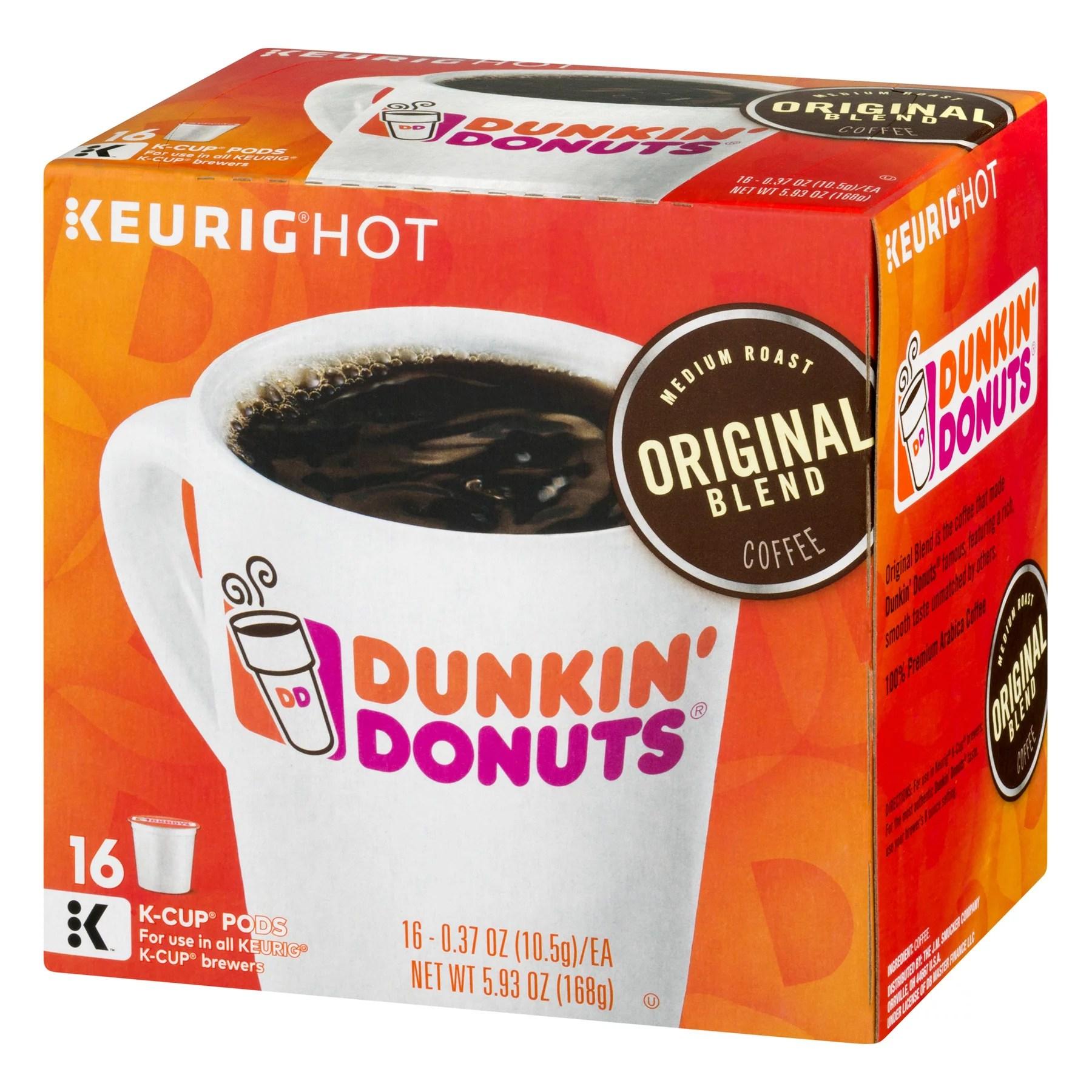 Dunkin39 Donuts Original Blend Coffee KCup Pods Medium