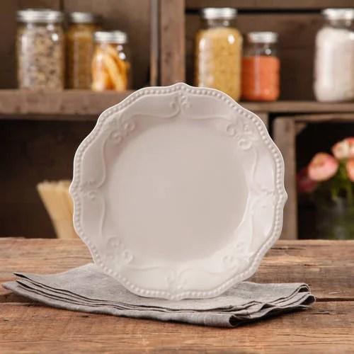 The Pioneer Woman Paige Crackle Glaze Salad Plate Linen