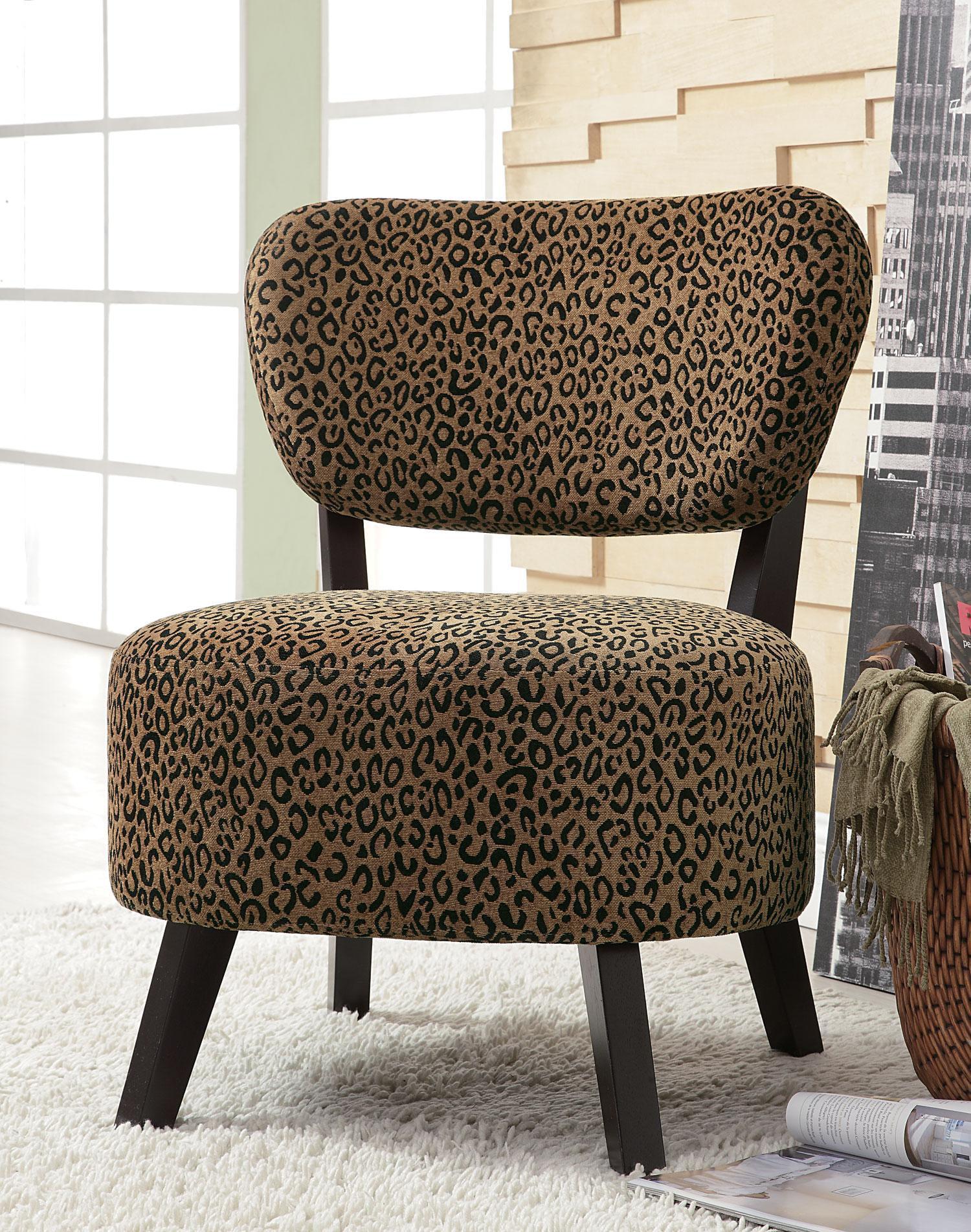 brown slipper chair threshold barrel wildon home shady shores leopard walmart com