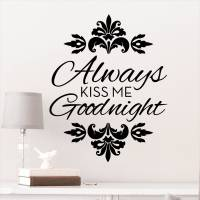DCWV Vinyl Always Kiss Me Good Night Wall Decal - Walmart.com