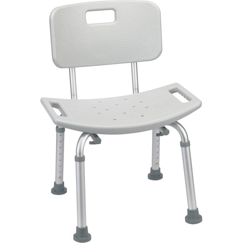 drive medical bathroom safety shower tub bench chair with back gray luxury office chairs back, - walmart.com