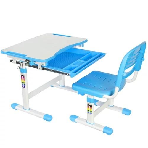 vivo vivo height adjustable children s desk with chair