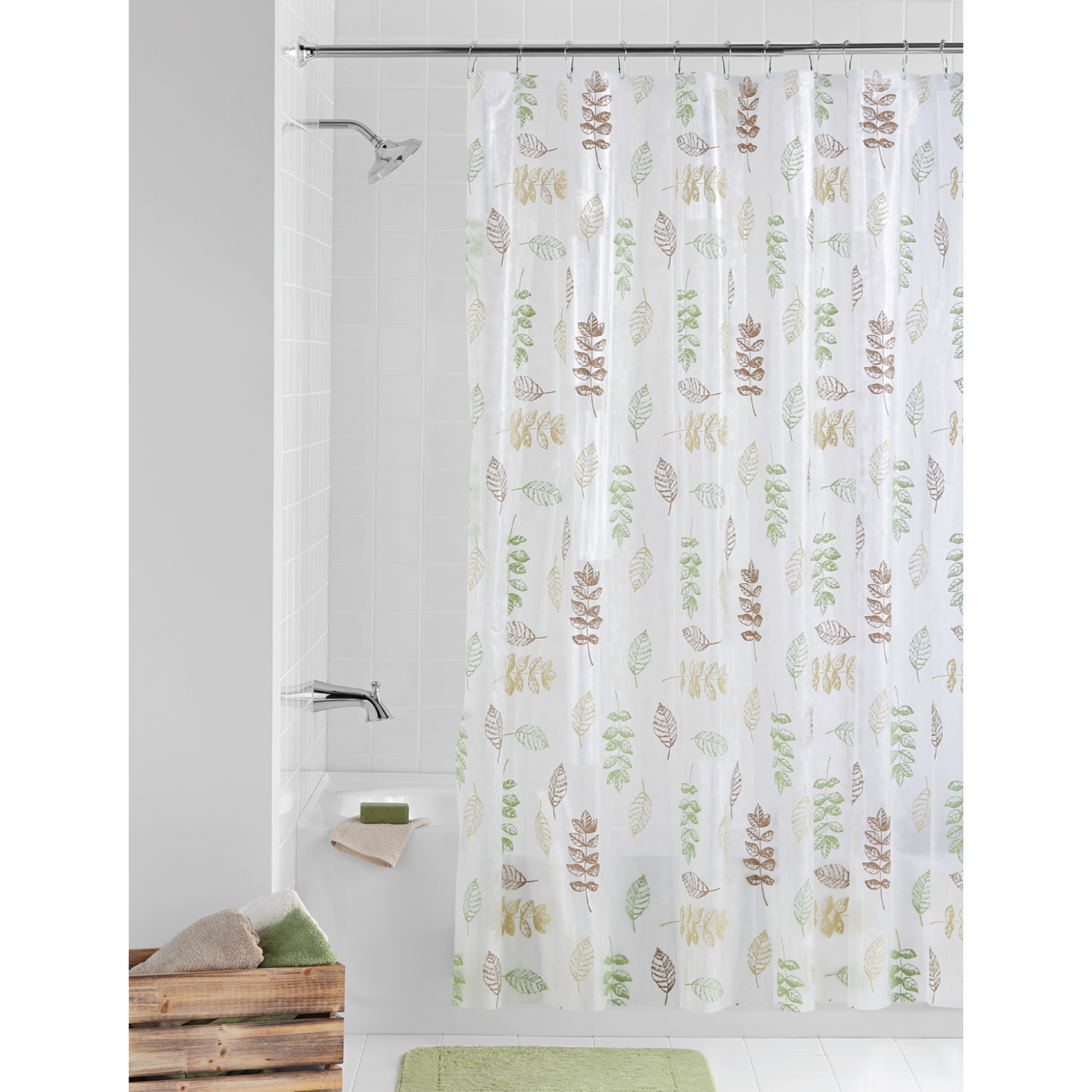 Bathroom Shower Curtain Mainstays Peva Shower Curtain Bathroom Set 13 Piece