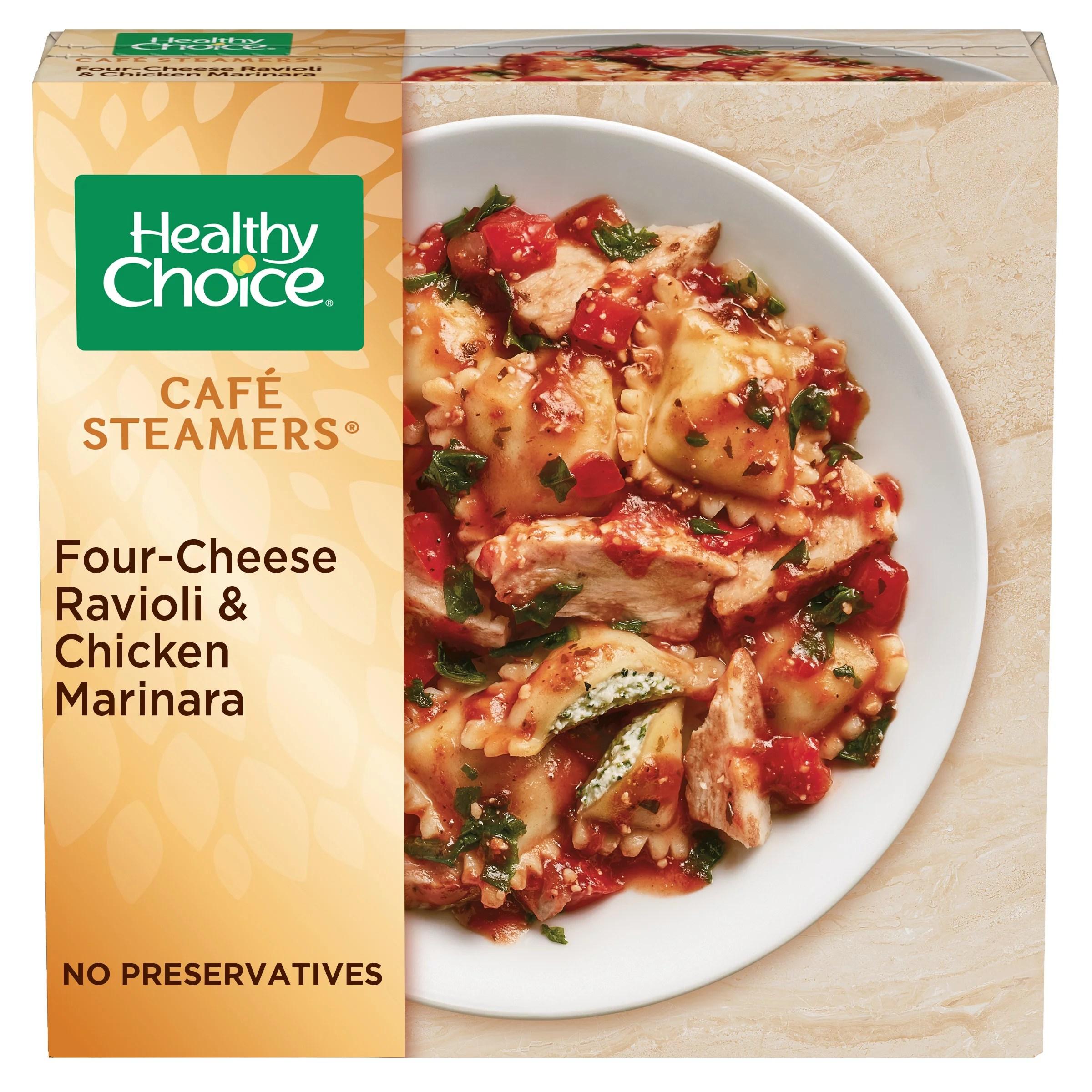 https www walmart com ip healthy choice caf steamers four cheese ravioli chicken marinara frozen meal 10 oz 21312088