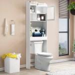 Home Bathroom Cabinet Over The Toilet Storage Collection Spacesaver 23 X 7 X 71in Walmart Com Walmart Com