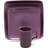 Retro Plum 16-Piece Dinnerware Set - Walmart.com