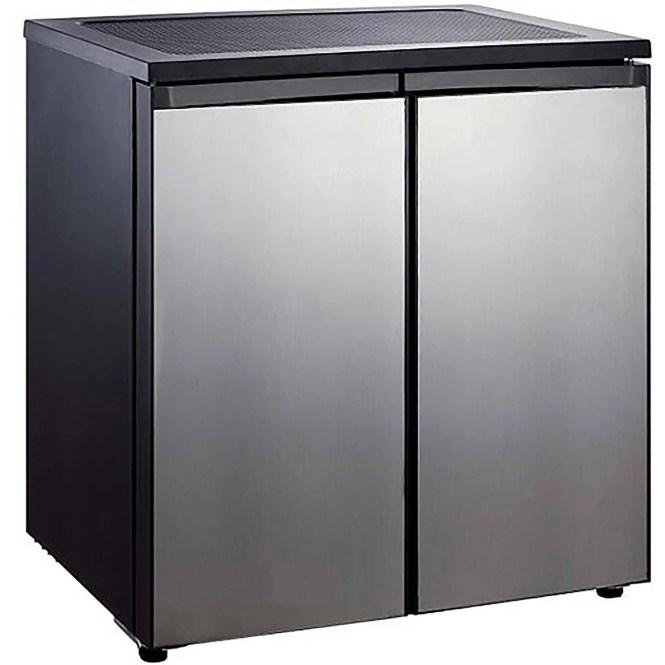 Haier 3 2 Cu Ft Two Door Refrigerator With Freezer Hc32tw10sv Black