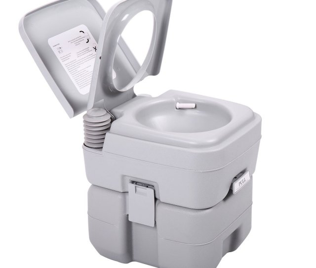 Ktaxon Portable Camping Toilet  Gallon Capacity Leak Proof Compact Porta Potty Up To