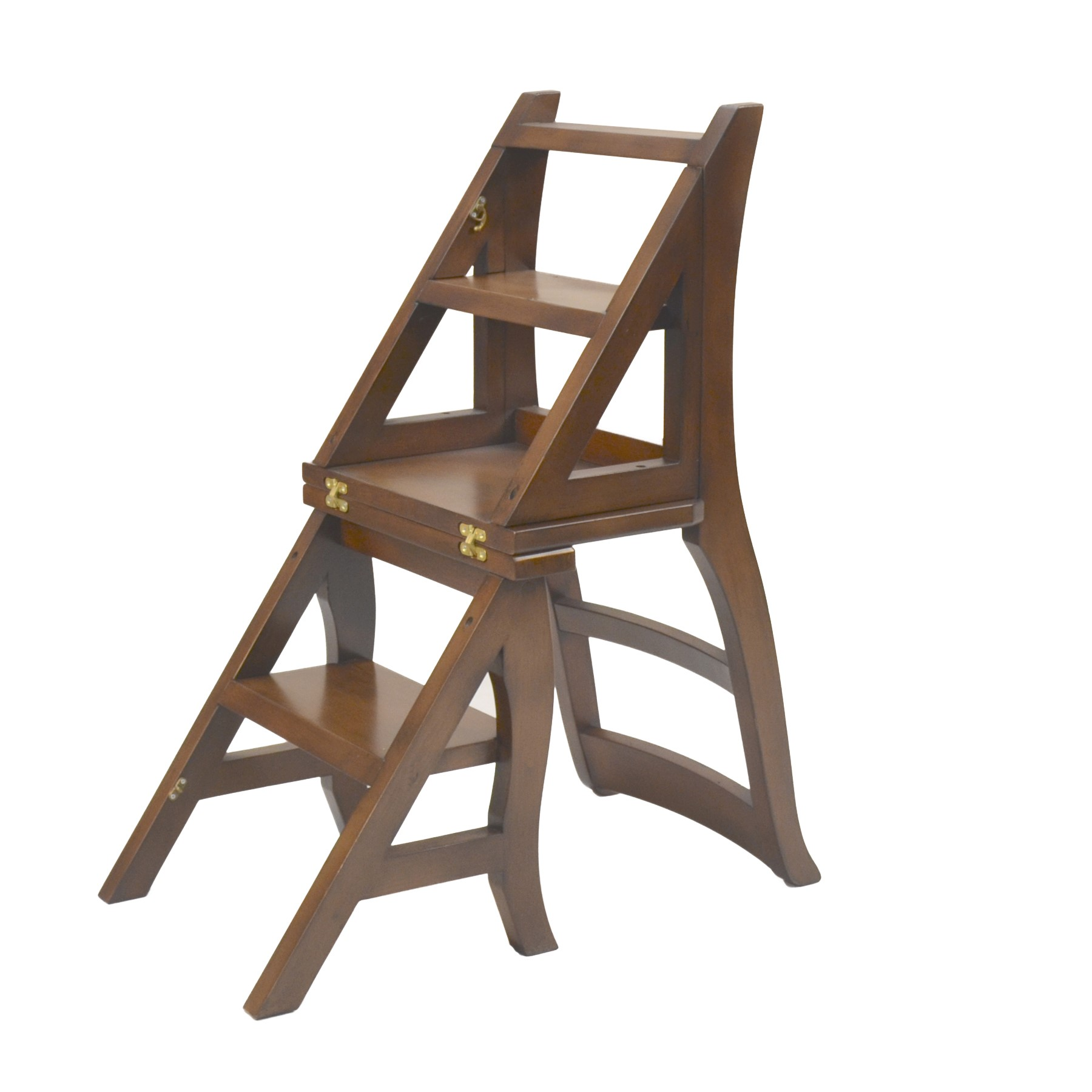 Library Ladder Chair Vintage Folding Library Chair Step Ladder Stool Dining