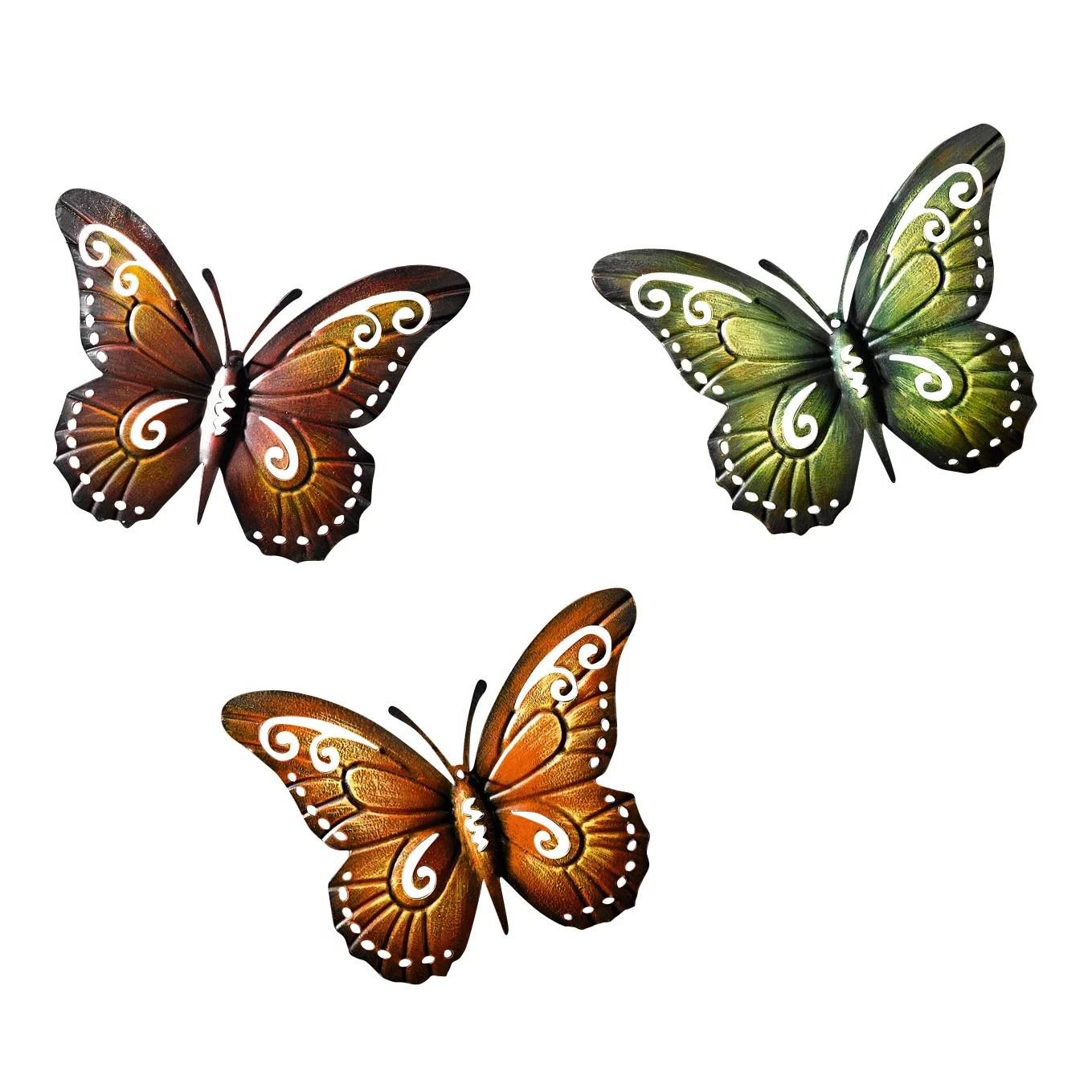 Metal Butterfly Wall Decor Colored Metal Butterflies