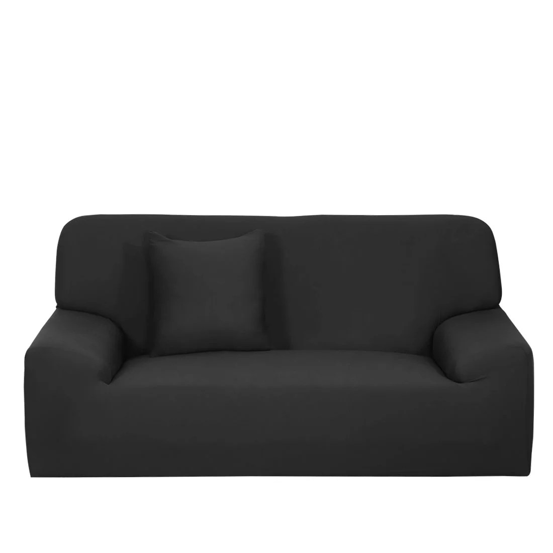 Stretch Sofa Cover Chair Loveseat Couch Slipcovers Protector Black Walmart Com Walmart Com