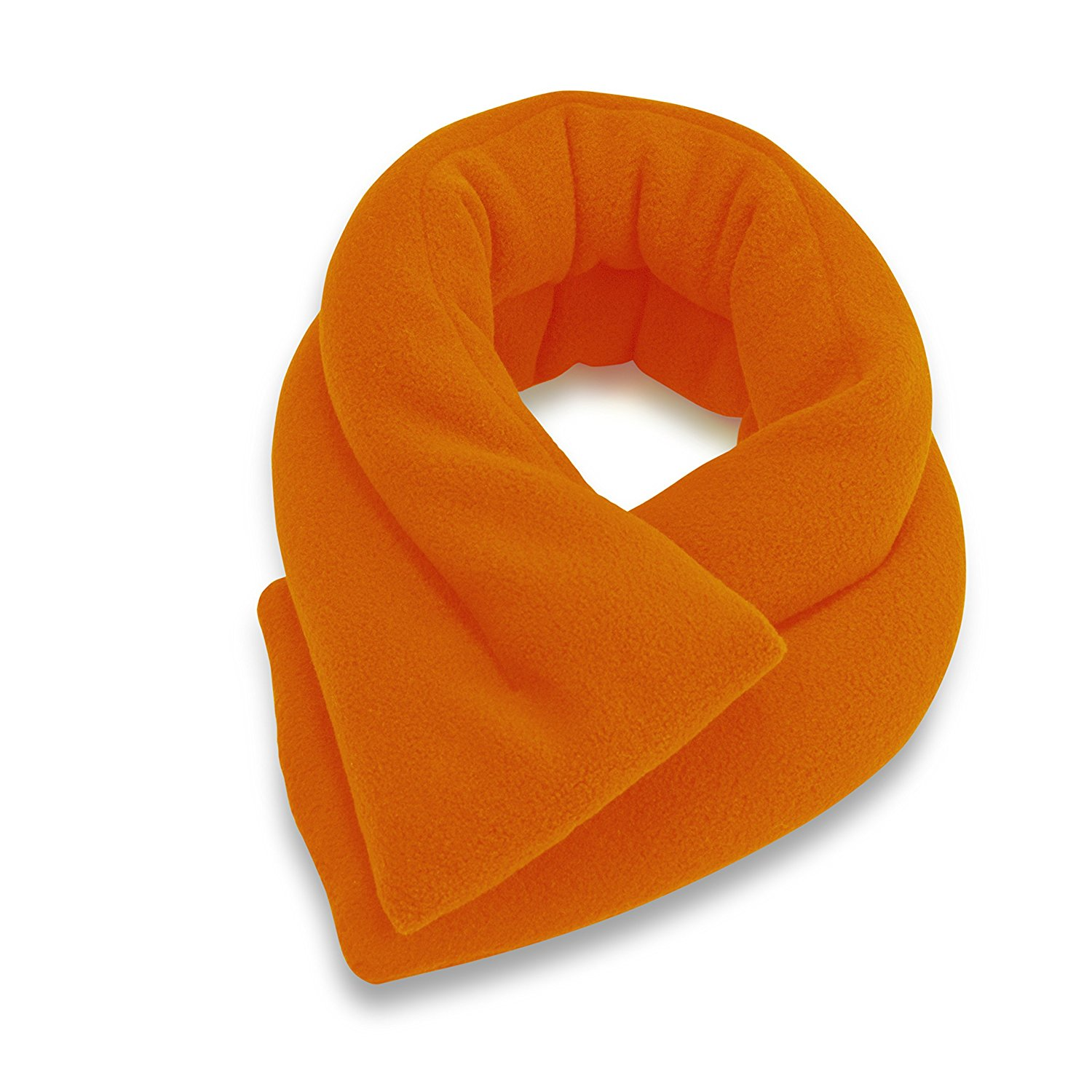 sunny bay extra long neck heating wrap microwavable heat pad heated neck wrap rice filled orange
