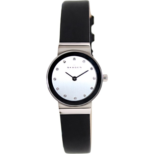 Skagen Women's Classic 358XSSLBC Silver Leather Quartz Fashion Watch