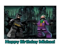 Lego Batman The Joker Image Photo Cake Topper Sheet - 1/4 ...