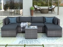 outdoor patio deck sectional sofa