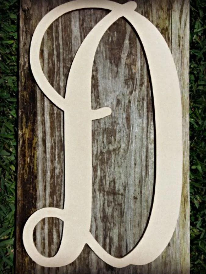 Lowercase Vine Letter (D) 12″ Unfinished Craft Letter, Paintable DIY
