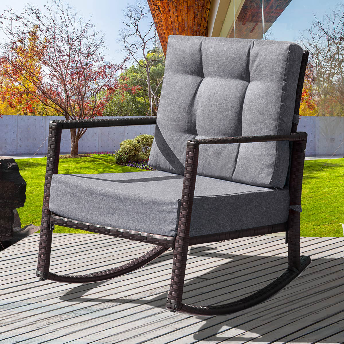 wicker patio rocking chair outdoor patio furniture conversation chairs metal rocking outdoors chair outdoor rocking chair sets for yard garden