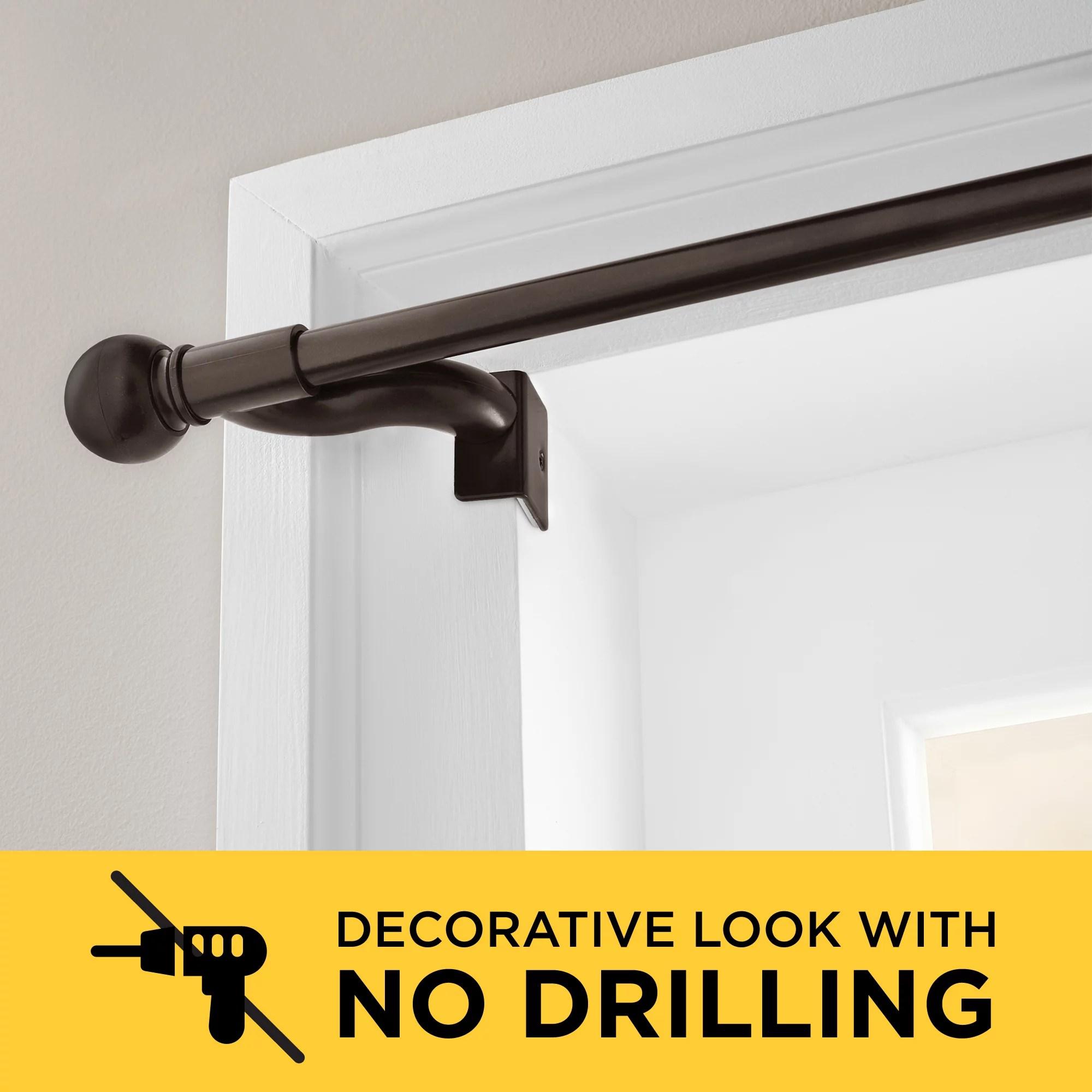 Smart Rods Twist And Shout No Drill Adjustable Window Curtain Tension Rod Walmart Com Walmart Com