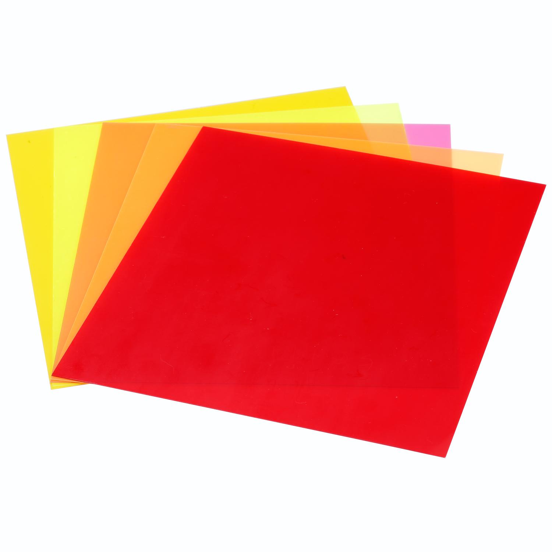 neewer 7 x8 18 x20 cm transparent color correction gel filter set pack of 5