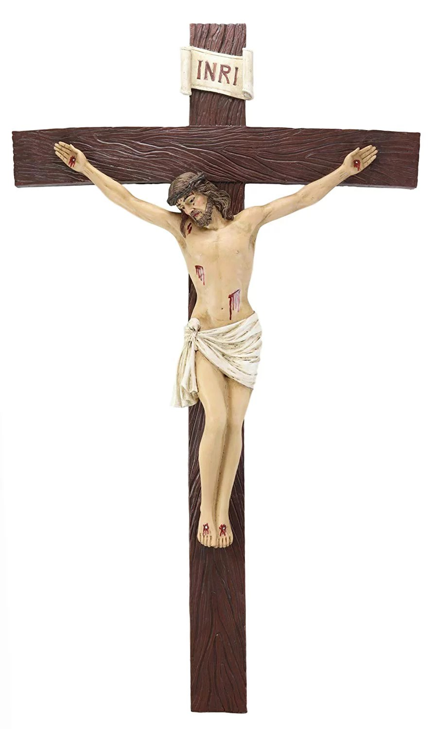 Ebros Large 30 Tall Inri Jesus Christ On The Cross Wall Hanging Crucifix Plaque Walmart Com Walmart Com