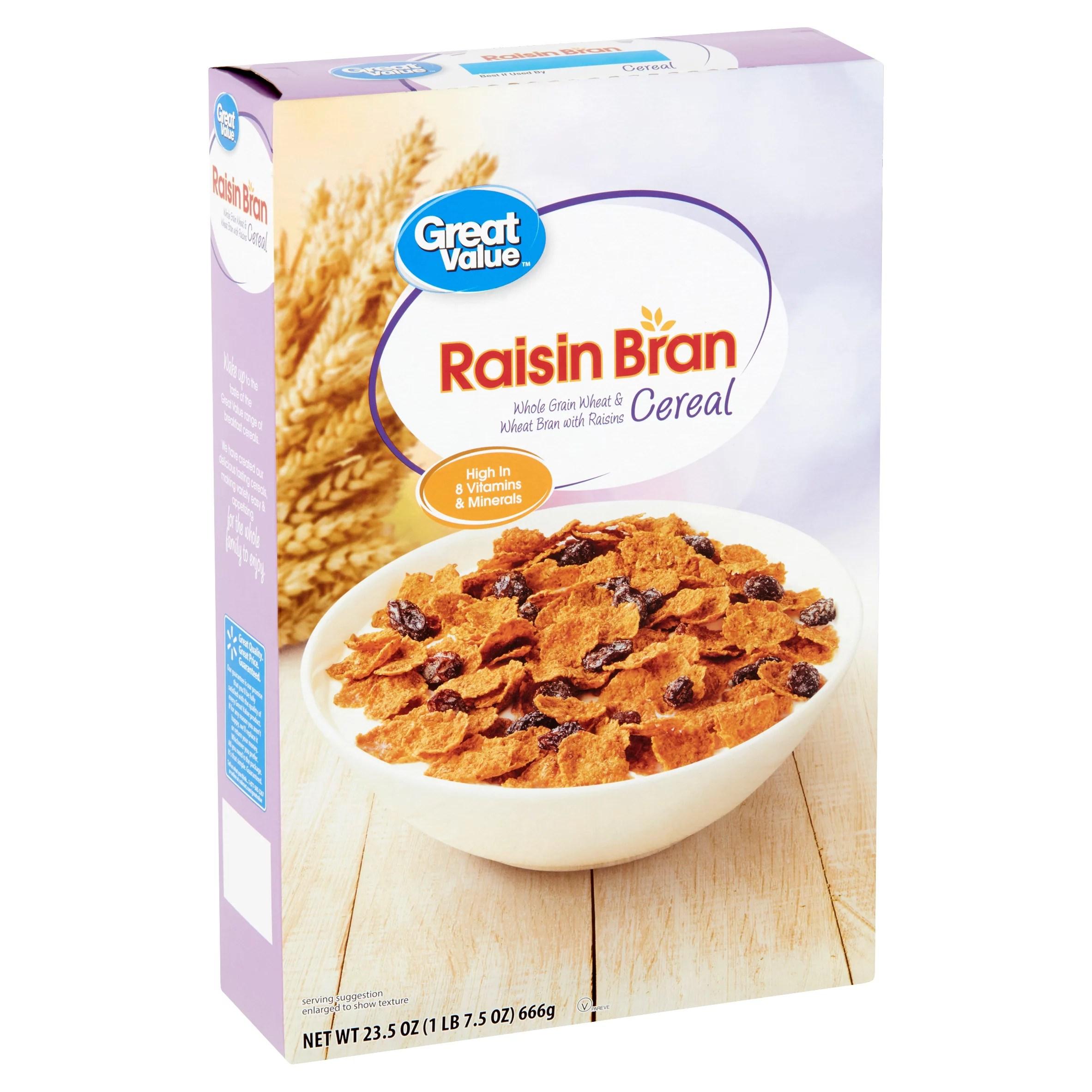 Great Value Raisin Bran Cereal 23.5 oz - Walmart.com ...