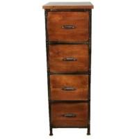 Rustic 4 drawer filing cabinet - Walmart.com