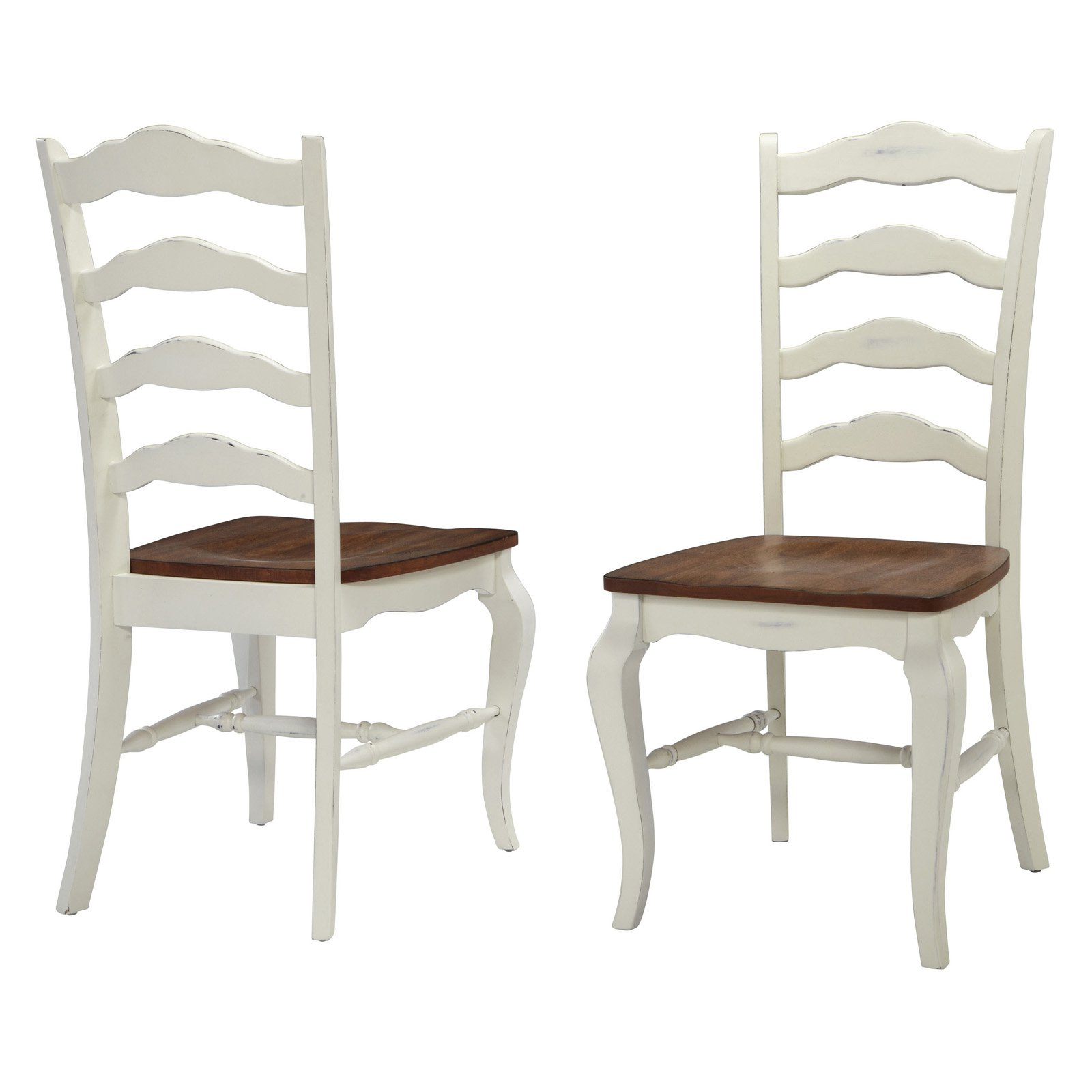 White Wooden Dining Chairs Home Styles French Countryside 2 Piece Oak Dining Chair Set Off White