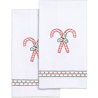 """Jack Dempsey Stamped White Decorative Hand Towel, 17"""" x 28 ..."""