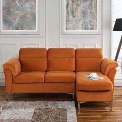 Casa Andrea Milano Sectional Sofa Cheap Modern Sofas Velvet Fabric ...