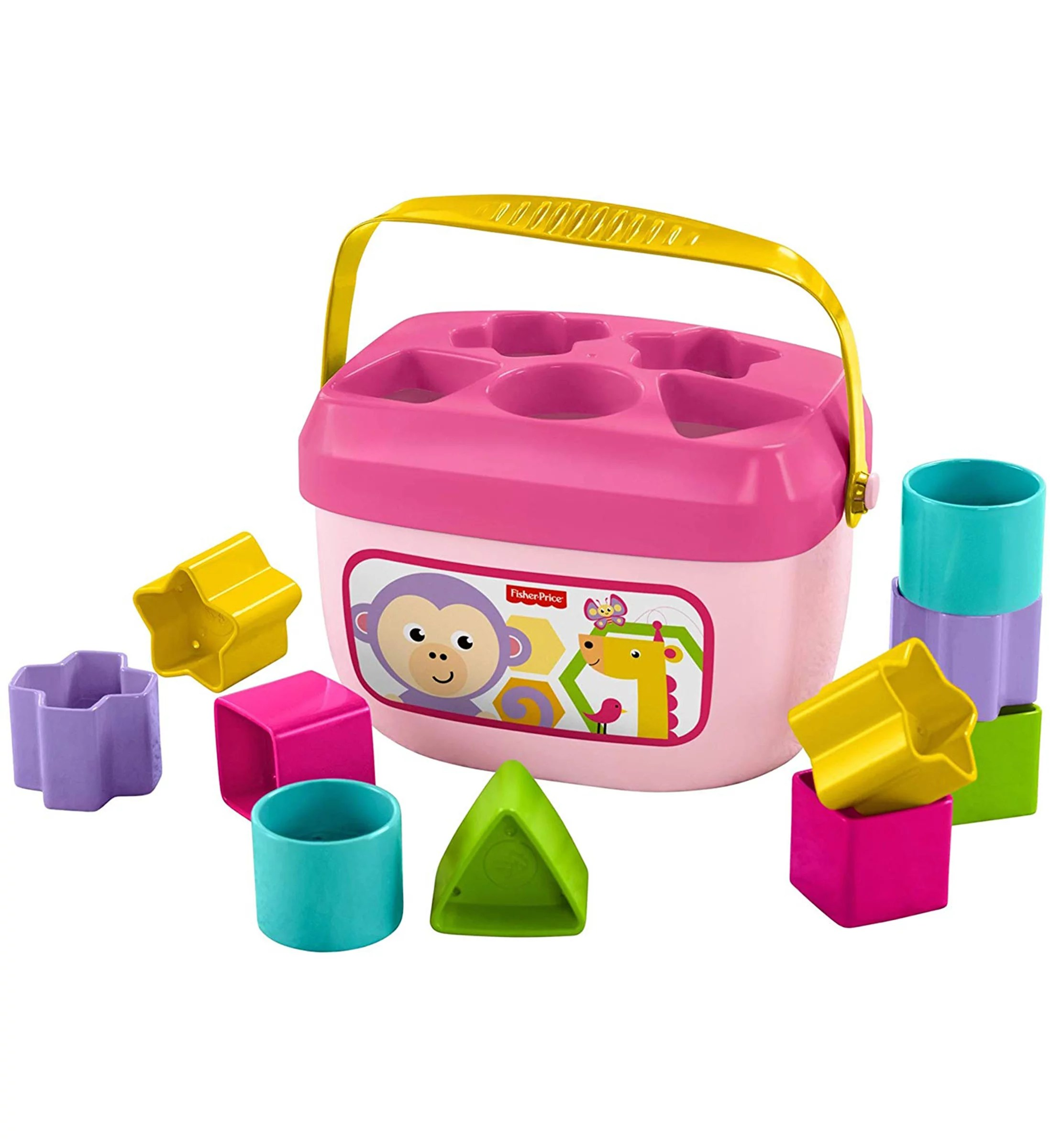 Fisher Price Fisher Price Baby S First Pink Blocks 11pc