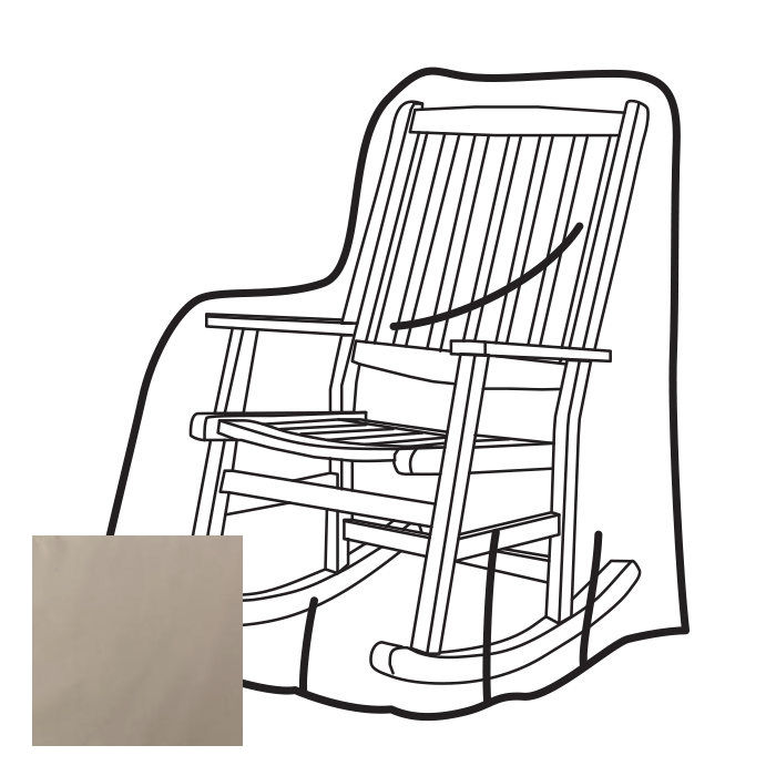 outdoor rocking chair covers grey office weather wrap cover walmart com