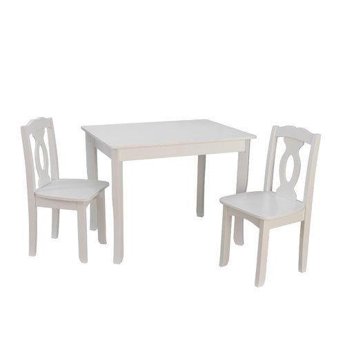 kidkraft white table and chairs stair chair lift installation cost brighton kids 3 piece rectangular set walmart com