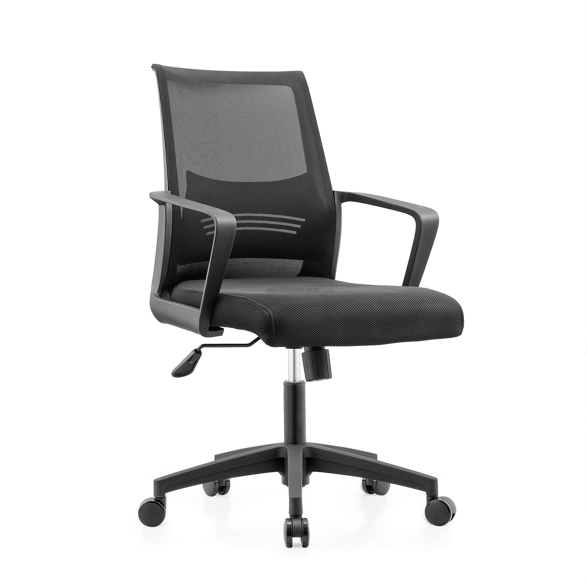lumbar support office chair horse saddle desk ergonomic mid back swivel computer mesh with armrest black lumbo walmart com