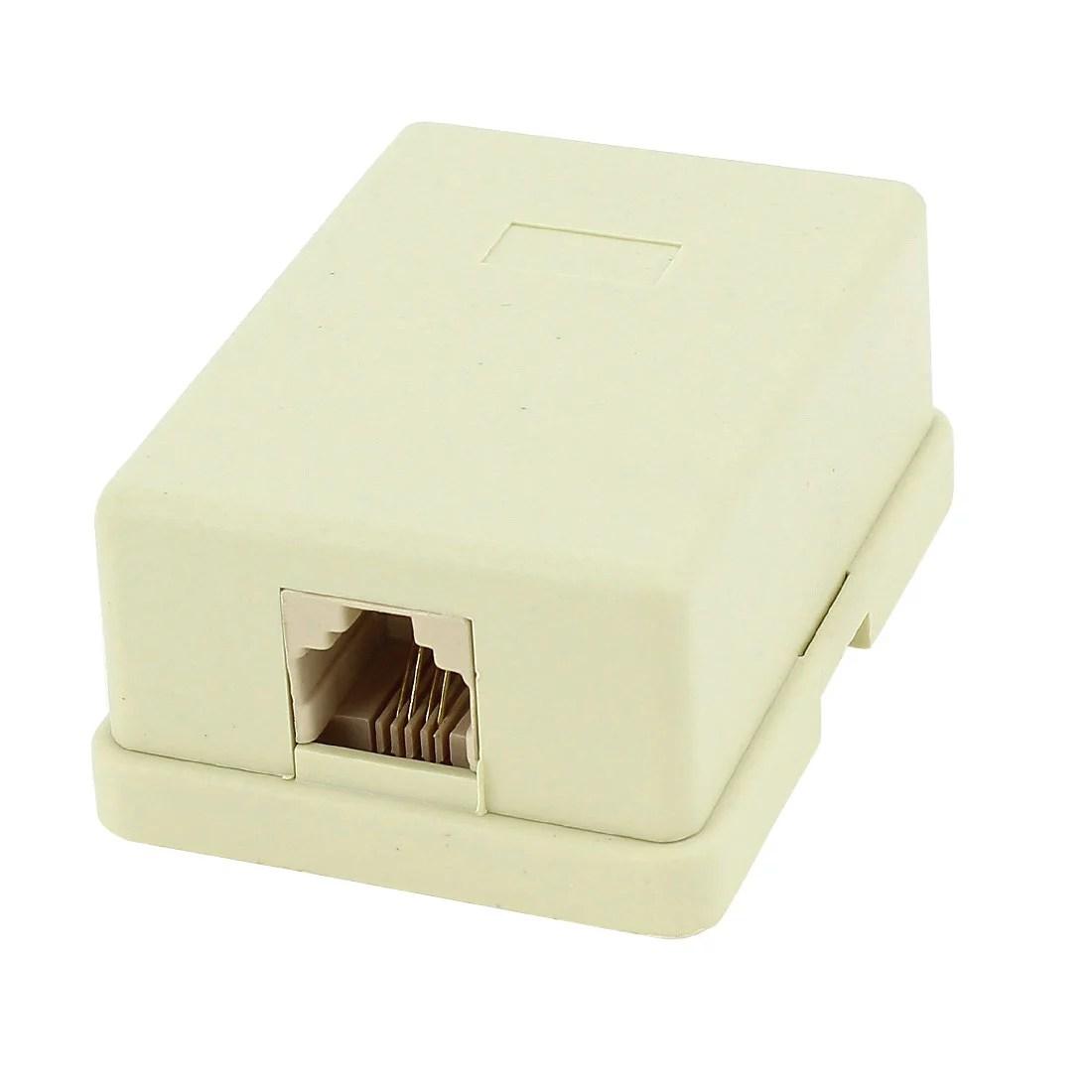 hight resolution of wall mount keystone single port telephone phone jacks 6p4c rj11 walmart com