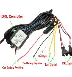 car drl dim control switch wiring harness daytime running light dimmer dimming relay 12v universal vehicle auto truck suv van us walmart com [ 1200 x 1200 Pixel ]