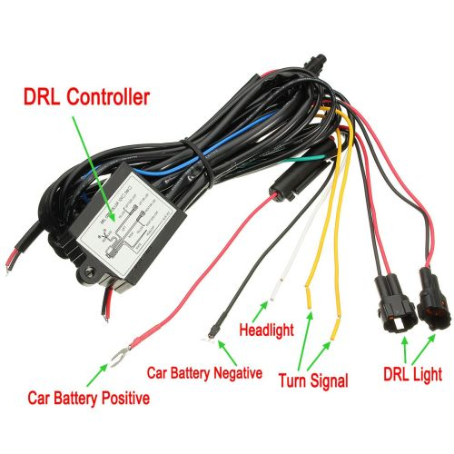 small resolution of car drl dim control switch wiring harness daytime running light dimmer dimming relay 12v universal vehicle auto truck suv van us walmart com