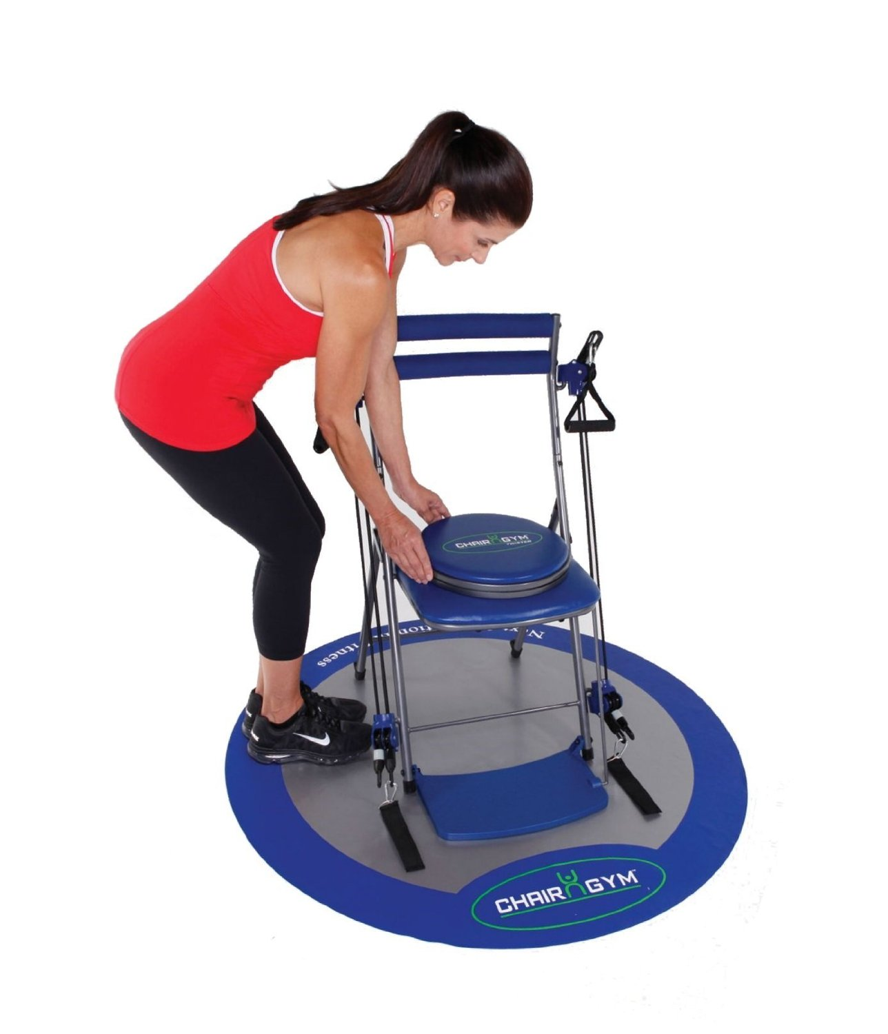 chair gym exercise system with twister seat shower chairs for handicap as seen on tv total body workout blue walmart com