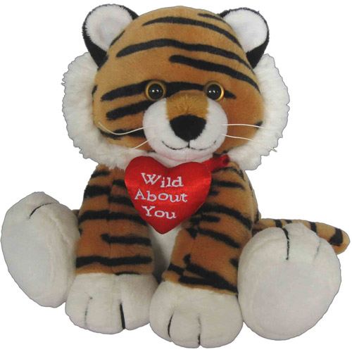 First Amp Main Valentines Plush Stuffed Tiger With Heart