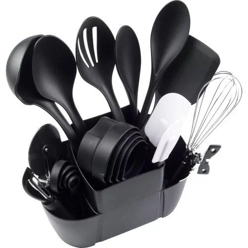 kitchen utensils set microfiber towels mainstays 21 piece walmart com