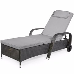Summer Chaise Lounge Chairs Square Table And For 8 Xtremepowerus Barton Outdoor Patio Adjustable Rattan Wicker Pool Chair With Wheels Gray Walmart Com