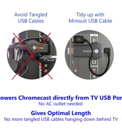 minisuit micro usb 8 cable for google chromecast fire roku walmart com [ 1001 x 1001 Pixel ]