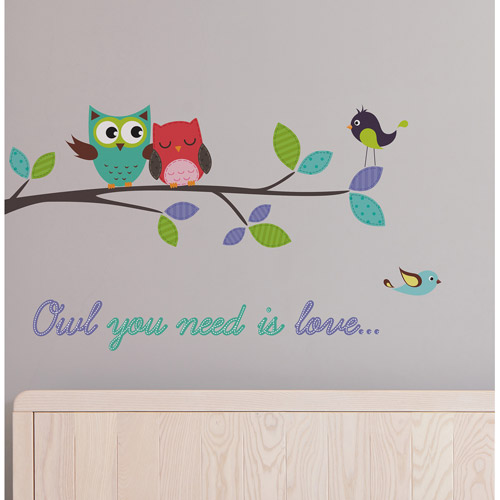 "Home Decor Line ""Owl You Need Is Love"" Decals Walmart Com"