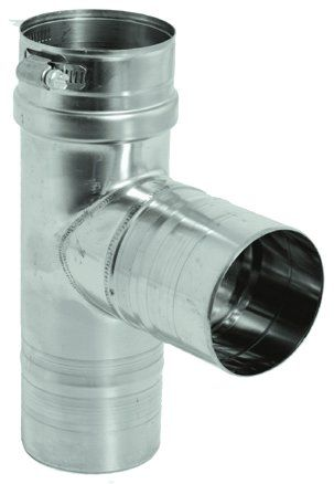Stainless Steel Standard Tee for 5 inch Vent Pipe