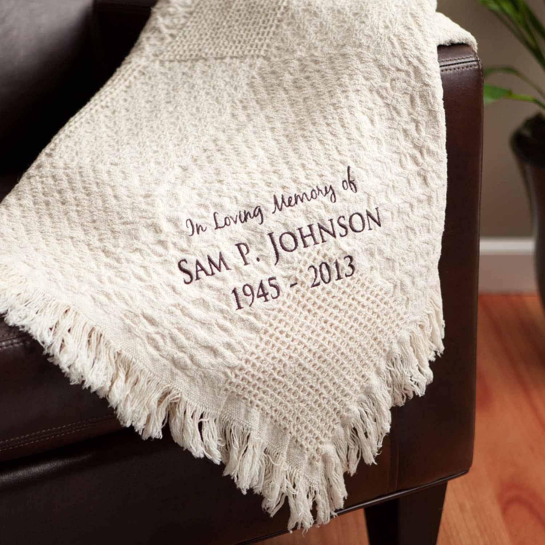 personalized blanket in loving