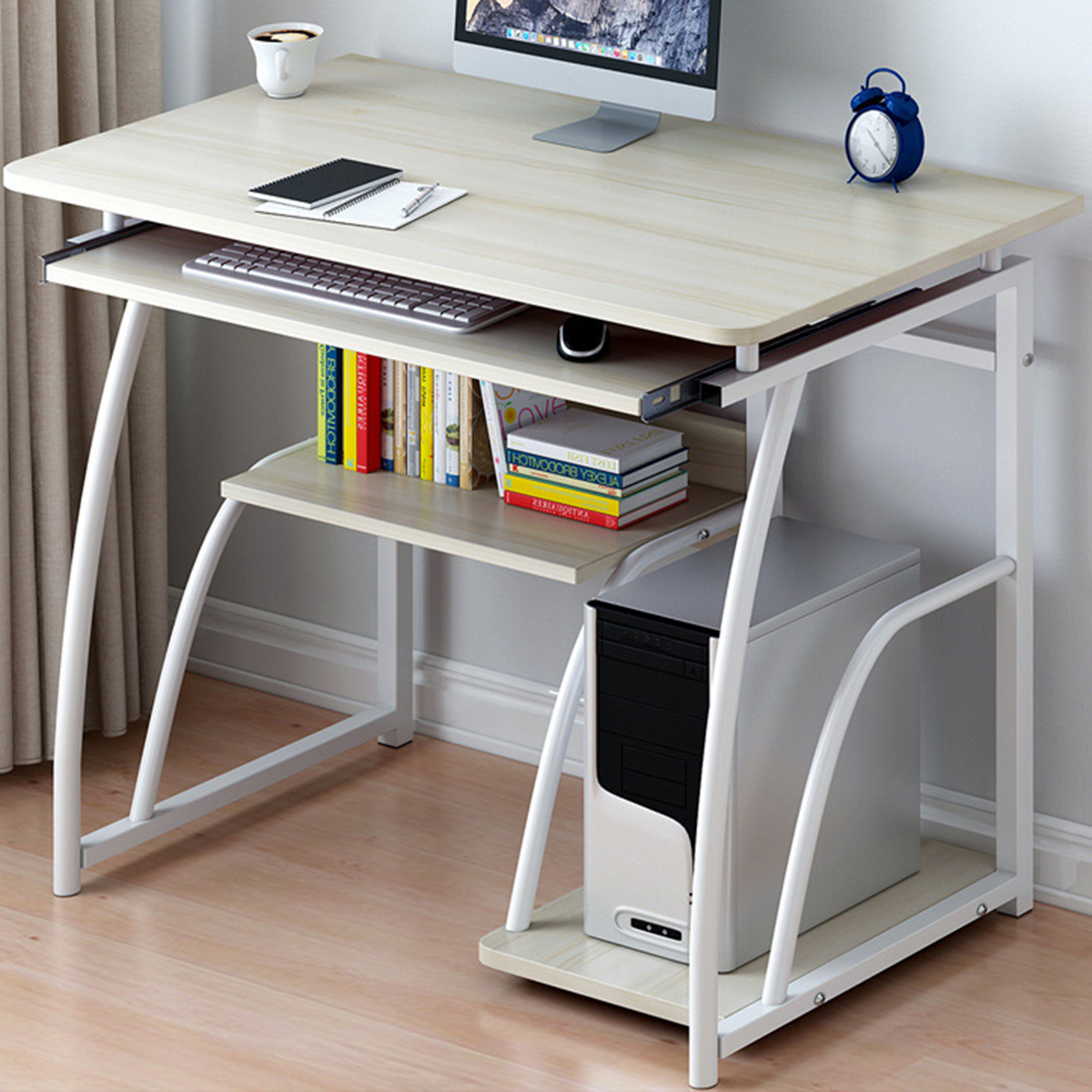 computer desk pc laptop table workstation home office study furniture tables